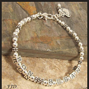 Sterling Silver Couple's Name Bracelet