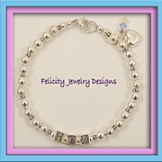 Personalized Bracelet - Sterling Silver Bracelet : MADE TO ORDER