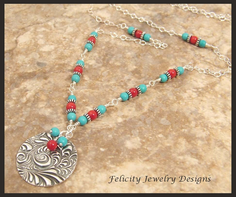 FIne Silver and Sterling Silver Long Necklace