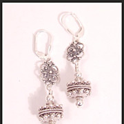 Bali and Sterling Silver Earrings