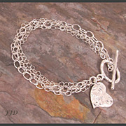 Fine Silver and Sterling Silver Multi-Chain Bracelet