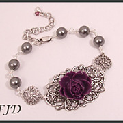 Flower and Filigree Bracelet : Bridesmaid Jewelry: MADE TO ORDER