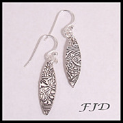 """Mya"" - Fine and Sterling Silver Earrings"