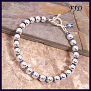 Sterling Silver and Crystal Bracelet
