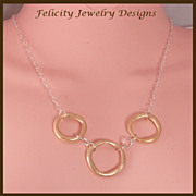 """Eternity"" - Bronze and Sterling Silver Necklace"