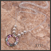 """Cosmic"" Swarovski Hoop and Sterling Silver Necklace"