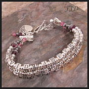 Sterling Silver and Crystal Name Bracelet