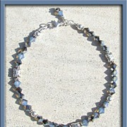 SALE PENDING Swarovski Crystal and Sterling Silver Anklet (Ankle Bracelet)