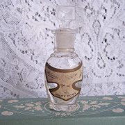 "Early 1900's Perfume Bottle ~ Palmer's White Rose"" ~ Floral Label"