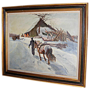 REDUCED W. Lester Stevens Oil on Canvas