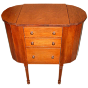 Martha Washington Sewing Cabinet w/Spool Drawer