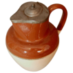 Doulton Lambeth Salt Glaze Pitcher with Pewter Lid