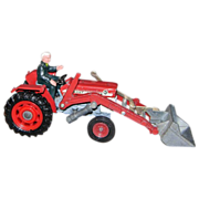 Corgi #69 Massey Ferguson 165 Tractor with Shovel