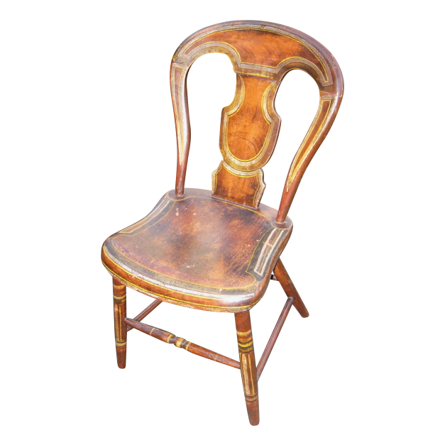 Antique Pennsylvania Balloon Back Chair From Fenwoodstudio
