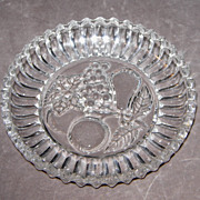 Intaglio Cut Glass Berry Plates/Dishes