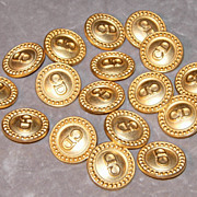 Christian Dior Gold Metal CD Initial Blazer Buttons