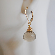 Gemstone Earrings- Gorgeous Lemon Quartz Dangle Earrings