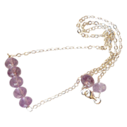 Gemstone Amethyst Necklace - sterling silver Necklace