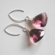 Gemstone Kunzite Quartz Dangle Drop Earrings