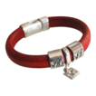 Red Licorice Leather Bracelet-Bangle bracelet- charm Bracelet - Cuff Bracelets
