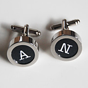 Men's personalized Cuff links - Men's jewelry- Men's Cuff links- Photo Cuff Links-Initial Cuff