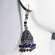 Chandelier Earrings - Sapphire Chandelier Earrings -Blue Earrings- Jhumka Earrings-September B