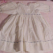 REDUCED Pretty Cotton Dress For A Bisque Doll