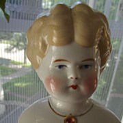 REDUCED Blonde China Doll With Necklace