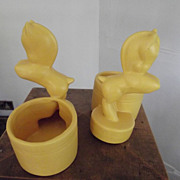 Pair of  Art  Deco Pony Planters