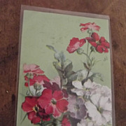 Early Postcard With Flowers