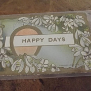 "Victorian ""Happy Day""  Post Card Greeting"