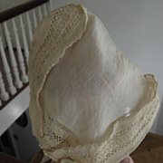 Linen Bonnet For Doll or Baby