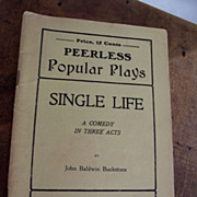 "Peerless Play ""Single Life"""