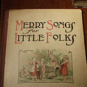 Merry Songs for Little Folks