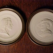 Pair of Early Small Plaster  Round Profiles