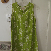 Green Mini Dress For Summer