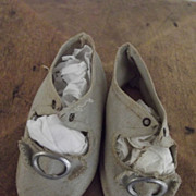 SALE Antique Cloth Shoes