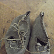 REDUCED Dark Grey Antique Shoes