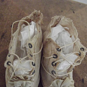 Antique White CLoth Shoes