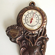 Vintage Thermometer With Stag