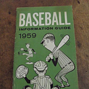 Baseball Information Guide 1959