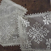 Lot of Old Delicate Lace Squares