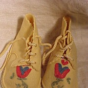 Adorable Felt Doll or Baby Shoes