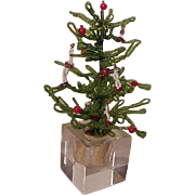 REDUCED Great Old Vintage Beaded Christmas Tree