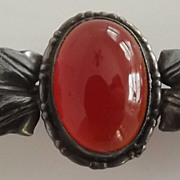 Victoria Glass Carnelian Bar Pin