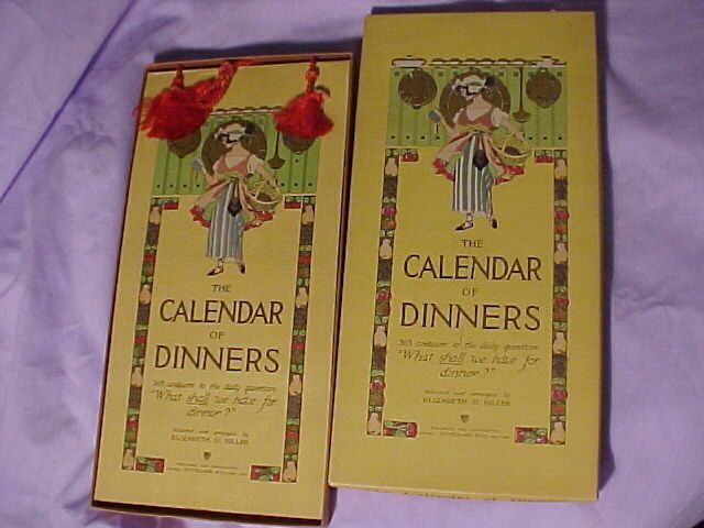 Calendar of Dinners by Volland reserved for luc