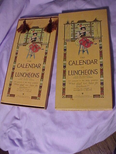 Calendar of Luncheons Reserved for Luc