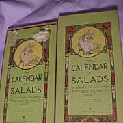 SALE PENDING Calendar of Salads  Reserved for Luc