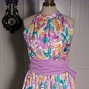 REDUCED Vintage Water Color  Print Sundress