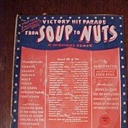 The World War Souvenir Book From Soup To Nuts